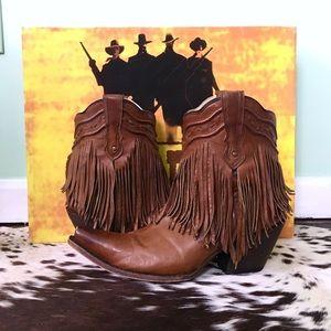 🌵Corral Vintage G1206 Fringe Cowboy Boots 9.5M🌵